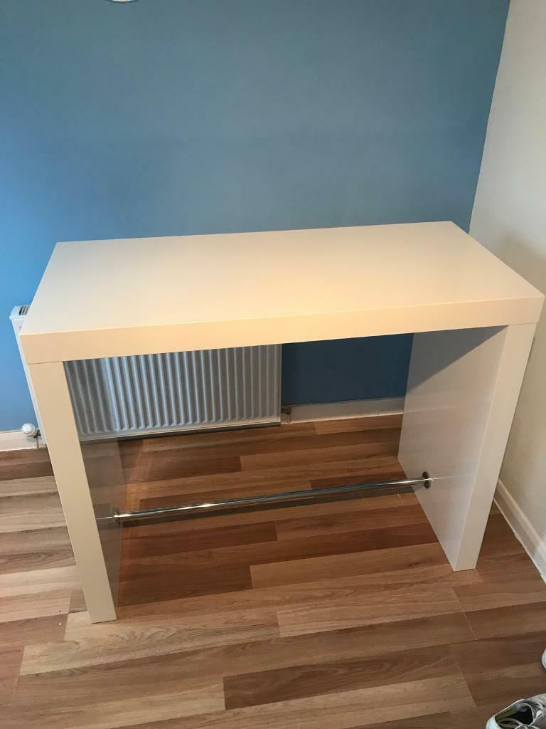 white gloss kitchen bar table | in airdrie, north lanarkshire