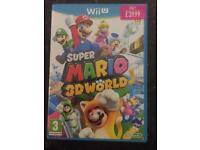 Super Mario 3D World for Nintendo Wii U in mint condition