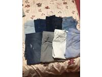 9 pairs of skinny jeans size 14