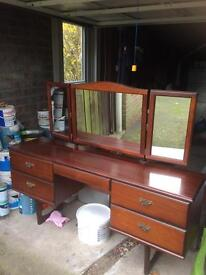 Rossmore 3 mirrored Dressing Table