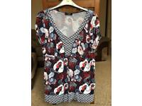 Size 16 flowery woman's top