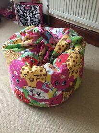 Shopkins child's beanbag
