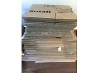 Cardboard packing removal boxes, all sizes