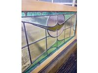 vintage art deco original stained glass