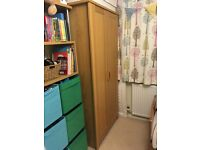 Double wardrobe with top shelf and 2 rails