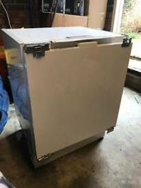 Clean good working order integrated fridge