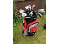 Dunlop 65 technology full set of irons, bag and trolley