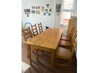 Table and 6 Chairs West Bridgford
