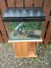 Fish tank and stand with pump heater and filter