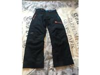 Men's black ski trousers size medium