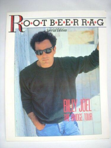 BILLY JOEL THE BRIDGE TOR JAPAN ROOT BEER RAG 1986 PROGRAM BOOK