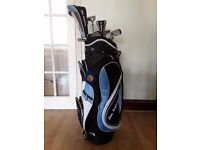 Ben Sayer golf bag and clubs