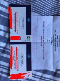 **FOR SALE** 2 X DEMI LOVATO TICKETS. MONDAY 25TH JUNE, LONDON O2 ARENA. GREAT SEATS IN LOWER TIER!