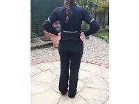 Black Rev it up padded ladies jacket and trousers
