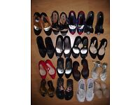 Large collection of used and some new shoes, sandals, boots, trainers etc