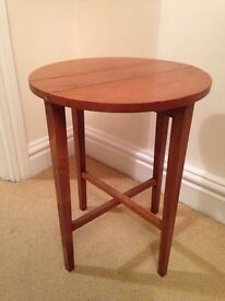 Lovely small wooden fold up side table