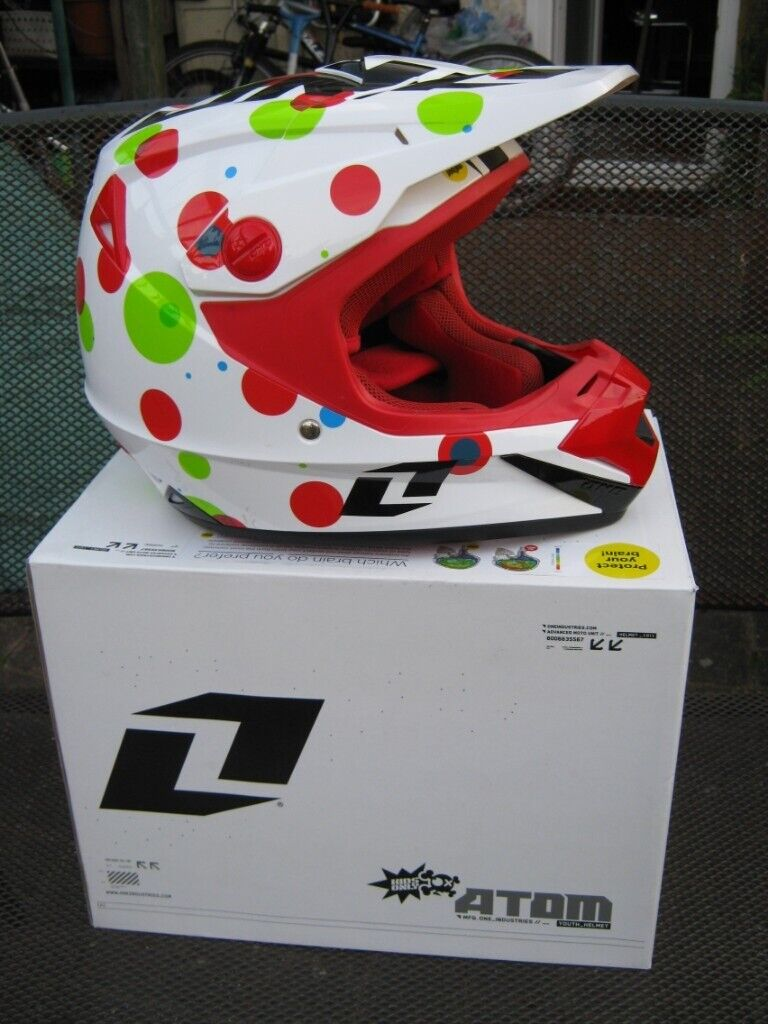a8362ab3 One Industries Atom Youth Motocross BMX Crash Helmet | in ...