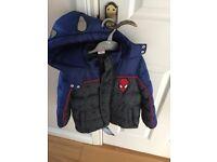 Boys Spider-Man Coat Age 2-3 Yrs