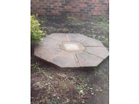 Lovely weathered paving feature