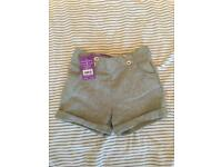 New grey sparkle shorts age 5-6 years