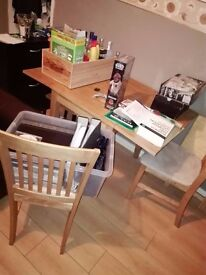 Small folding dining table. with 2 chairs