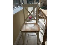 Four wooden dining chair