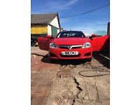 Red Convertible Vauxhall Tigra
