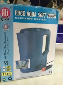 Travel kettle-edco aqua soft touch electric kettle : Norwich collection only