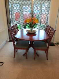 Table and 4 chairs, Tv unit, Corner cabinet and Nest of tables