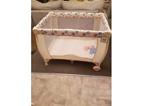 Travel cot brand new with tags