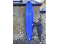 CAN SHIP O'Shea Longboard Surfboard 9'6, SET, bag, fins 2+1, single fin, leash, bag, 76L