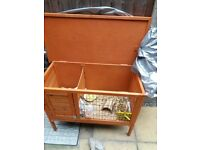 Outdoor guinea pig hutch.£25.00
