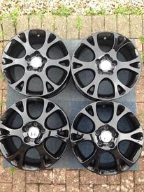 Genuine Honda Accord 6 Spoke Alloy Wheels in Black x4