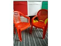 2 x children's chairs