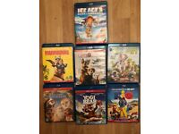 7 blue ray films, £10 bundle