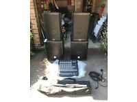 Active PA system with mixer and par bar