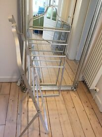 Steel clothes rail/ hanger x2