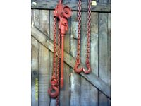 Lever Type Chain Ratchet and Sling