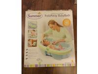 Summer FoldAway BabyBath baby bathtub