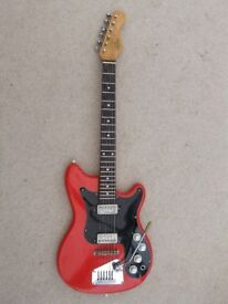Hofner Guitar:Solid for left Handed Player:Vintage 1950s:Tremolo:Good condition.