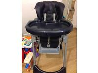 Baby blue high chair from Mamas and Papas