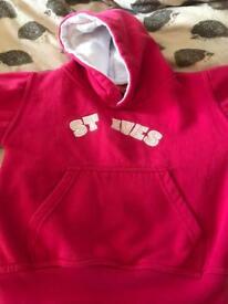 Pink girls aged 5/6 year old hoodie