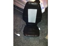 Moassage cushion/chair, fits on to any chair or lye flat on the floor, excellent cond with remote