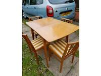 Stunning vintage retro Scandanavian style dining table and chairs