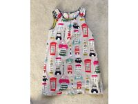 Mini Boden girls lined pinafore dress in very good condition age 9-10 years