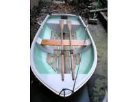7.5 ft fiberglass rowing boat.