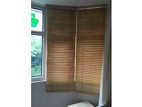 Venetian wooden blinds