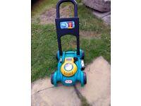 Kids little tikes lawnmower excellent condition