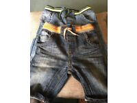 Boys denim shorts x2 immaculate condition age 4-5