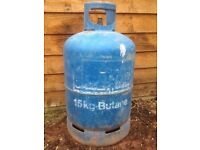 BUTANE 15KG EMPTY GAS BOTTLE £15 COLLECTION ONLY THIS IS THE 2ND BOTTLE OF THIS SIZE I HAVE FOR SALE